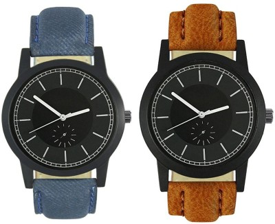 Naksh Fashion FOX-M-416-417 Designer Stylish Watch combo With Fancy Dial And Belt Watch  - For Men   Watches  (Naksh Fashion)