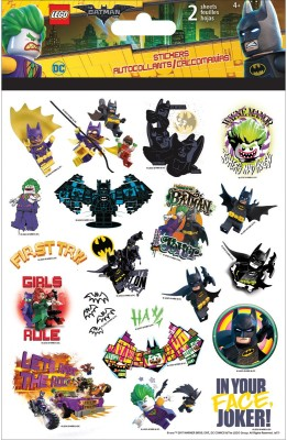Trends International Lego Foldover Stickers 2 Sheets - Dc The Batman Movie