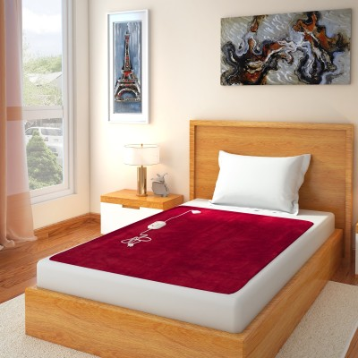 Home Elite Plain Single Electric Blanket Red(Electric Bed Warmer)  available at flipkart for Rs.899