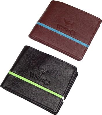 WALLETO Men Multicolor Artificial Leather Wallet 6 Card Slots