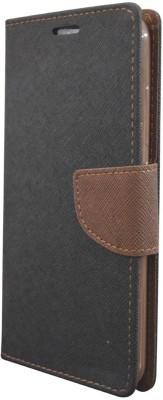 COVERNEW Flip Cover for Motorola Moto C Plus Black COVERNEW Plain Cases   Covers