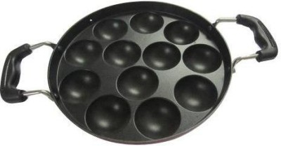 The Kitchen Queen Non stick Appam Maker 12 Ball with Lid (Brown) Cookware Set(Aluminium, 1 - Piece)  available at flipkart for Rs.455