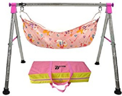 westturn Indian Style Fully Folding Stainless Steel Ghodiyu (Baby Cradle)(Pink)  available at flipkart for Rs.1539