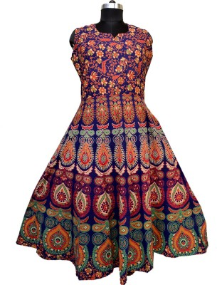 Silver Organisation Women Fit and Flare Multicolor Dress