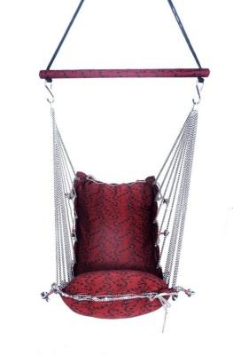 Shrih Red & Black Deign Swing Hammock Cotton Hammock(Red, Black)