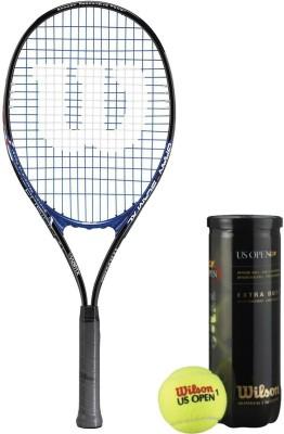 Wilson Racquet and Ball Tennis Kit (Grand Slam Aluminium Alloy Tennis Racquet for Adults + US Open Tennis Ball, pack of 3) Tennis Kit  available at flipkart for Rs.2246