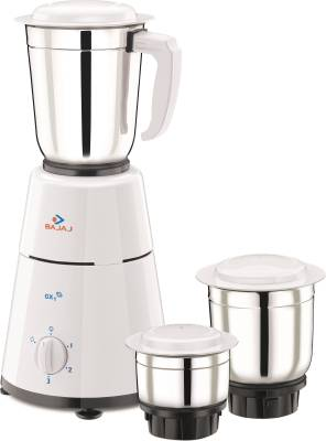 Bajaj GX1 500 W Mixer Grinder  (White, 3 Jars)