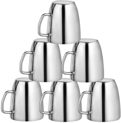 Kitchen Delli Steel Cappuccino Coffee Mug Set Of 6 Stainless Steel(Silver, Pack of 6)  available at flipkart for Rs.800