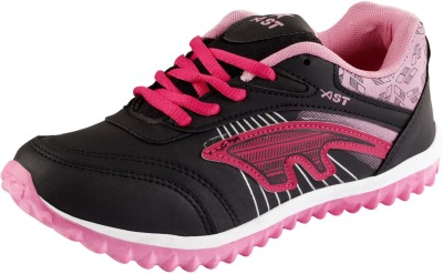A-STARS Running Shoes For Women(Black, Pink)