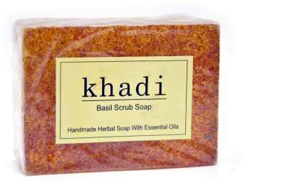 Khadi Herbal Basil Scrub Soap 125gm(125 g)