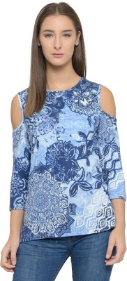 Tunic Nation Party 3/4th Sleeve Printed Women's Multicolor Top
