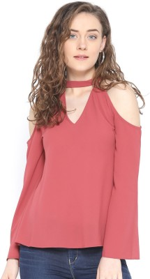 Rare Casual Full Sleeve Solid Women Pink Top