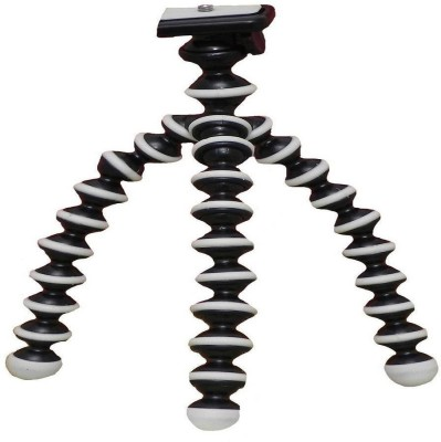 Animate Mobile Gear Flexible Mini TriPod (10 Inch Height) For Camera, Dslr And Smartphones With Universal Mobile Attachment Tripod(Black, Supports Up to 3000 g)