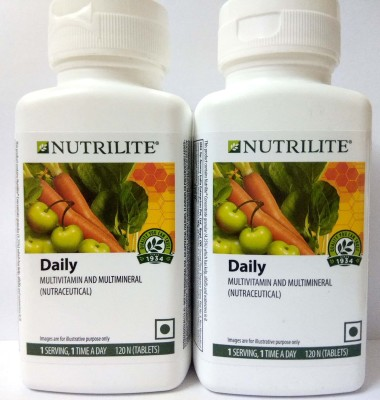 Amway Nutrilite Daily - 120 Tablets Pack of 2(240 mg)
