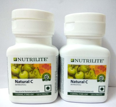 Amway Nutrilite Natural C Tablets - 120 Numbers Pack Of 2(240 No)