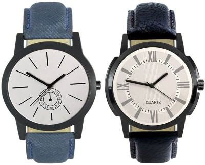Naksh Fashion FOX-M-411-418 Designer Stylish Watch combo With Fancy Dial And Belt Watch  - For Men   Watches  (Naksh Fashion)