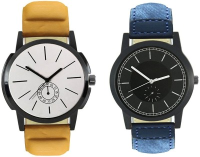 Naksh Fashion FOX-M-409-415 Designer Stylish Watch combo With Fancy Dial And Belt Watch  - For Men   Watches  (Naksh Fashion)