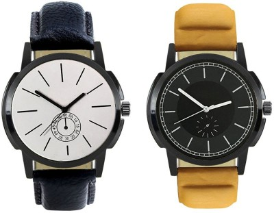 Naksh Fashion FOX-M-408-414 Designer Stylish Watch combo With Fancy Dial And Belt Watch  - For Men   Watches  (Naksh Fashion)