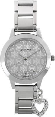 Sonata 87019SM02  Analog Watch For Girls