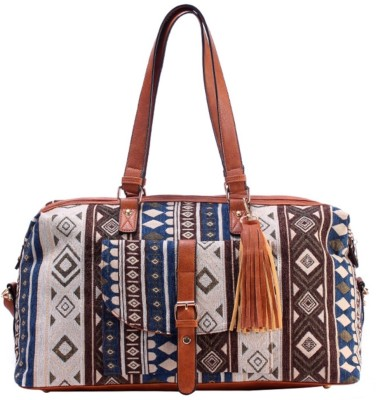 d347bb2dff46 10% OFF on DECARLO Blue Printed Duffle Bag Travel Duffel Bag(Blue) on  Flipkart
