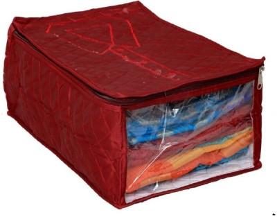 Addyz Storage Bag Satin Shirt Cover trouser Cover(Maroon)  available at flipkart for Rs.195