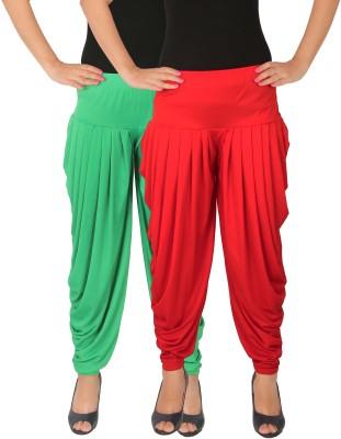 AK Fashion Churidar Length Legging(Red, Dark Green, Solid)
