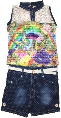 s nawaz dresses Girls Party(Festive) Dress Jeans(Multicolor)