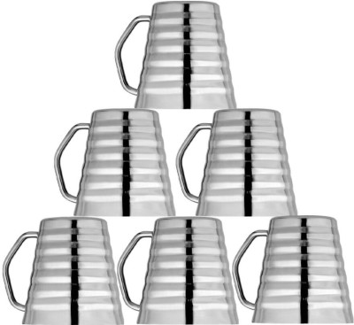 Kitchen Delli Stainless Steel Clonical Shaped Coffee Mug Set Of 6 Stainless Steel(Silver, Pack of 6)  available at flipkart for Rs.850