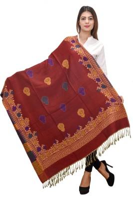 9b166eef5053b View Letz Dezine Wool Floral Print Women s Shawl(Multicolor) Price Online