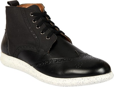 Knotty Derby Roger Brogue Boot Sneakers For Men(Black)
