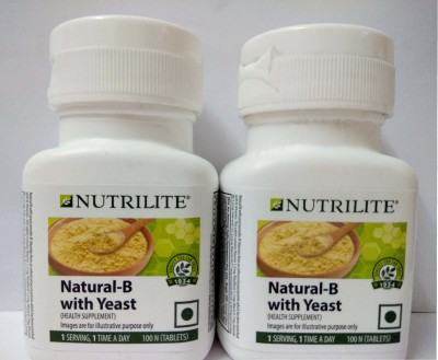 Amway Nutrilite Natural B with Yeast - 100 Tablets Pack Of 2(200 mg)