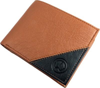 TnW Men Tan, Black Artificial Leather Wallet 3 Card Slots