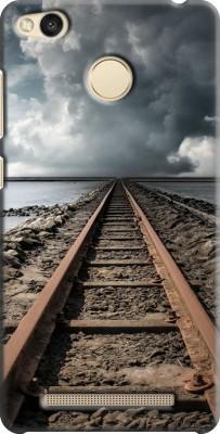 COBIERTAS Back Cover for Xiaomi Mi Redmi 3s Prime Back Cover(railway track Design, Plastic)