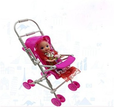 Ensure Life Mini Barbie Little Sister Kelly Baby Infant Stroller Carriage Mini Doll Stroller Toys Diy Assemble(Baby Not Include&#Xff0(Multicolor)  available at flipkart for Rs.1438