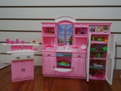 Generic Barbie Size Dollhouse Furniture - My Fancy Life Kitchen Play Set(Multicolor)  available at flipkart for Rs.4559