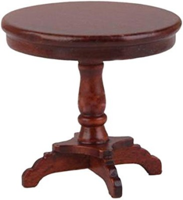 Gracefulvara Wooden Round Tea Coffee Table Desk For 1:12 Dollhouse Furniture - Brown(Multicolor)  available at flipkart for Rs.1349