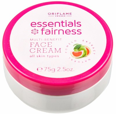 Oriflame Sweden Essentials Fairness Multi-Benefit Face Cream(75 ml)  available at flipkart for Rs.210