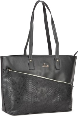 Lavie Women Black Tote at flipkart