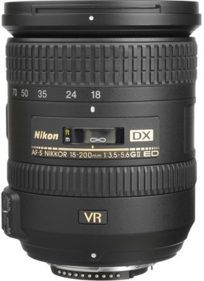 Nikon AF-S DX NIKKOR 18-200mm f/3.5-5.6G ED VR II Lens(Black, 18-135MM)