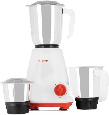 Billion Fast Grind MG121 500 W Mixer Grinder(White, 3 Jars)