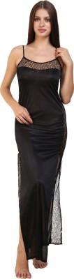 Fashion Xposed Women Nighty(Black)