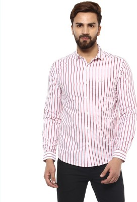 Mufti Men Striped Casual White, Red Shirt  available at flipkart for Rs.2099