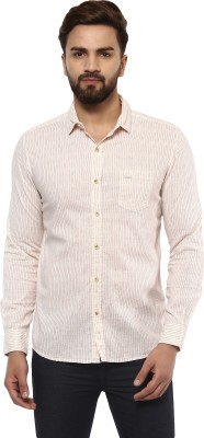 Mufti Men Striped Casual Beige, Red Shirt  available at flipkart for Rs.2099