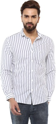 Mufti Men Striped Casual White, Blue Shirt  available at flipkart for Rs.2099