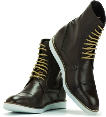 Elevato Elevato height increasing Shoes - Classic Brown Light weight Long Boot Boots For Men(Brown)  available at flipkart for Rs.3999
