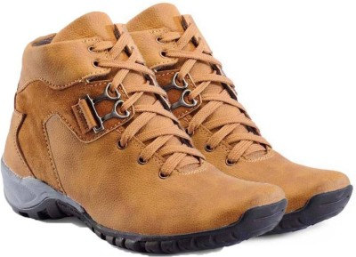 Shoe Island Designer Tan Brown Ankle-Length Casual Shoes Casuals For Men(Tan)  available at flipkart for Rs.499
