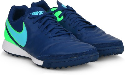 43% OFF on Nike TIEMPO GENIO II LEATHER TF Football Shoes For Men(Blue) on  Flipkart  265e6514f224