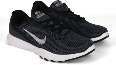 Nike NIKE FLEX TRAINER 7 Training & Gym Shoes For Men(White, Black) 1