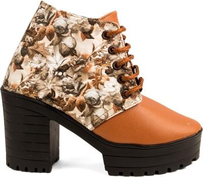Cuty Fashion Casuel & PartyWear Beige Boot Boots For Women(Multicolor)