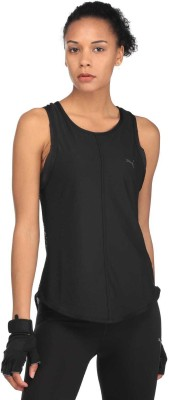 Puma Casual Half Sleeve Solid Women